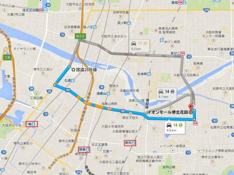(仮称)イオンモール堺鉄砲町・商圏マップ