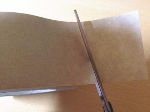 フィットカーブチタンプレミアムでガムテープを切ってみた